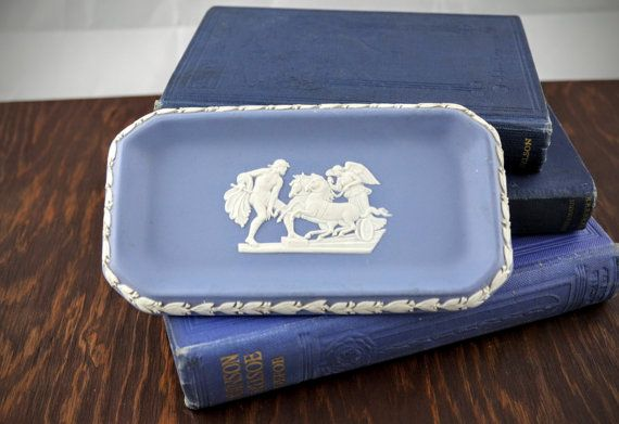 Vintage Wedgwood Jasperware Pin Dish  Light Blue by LoAndCoVintage