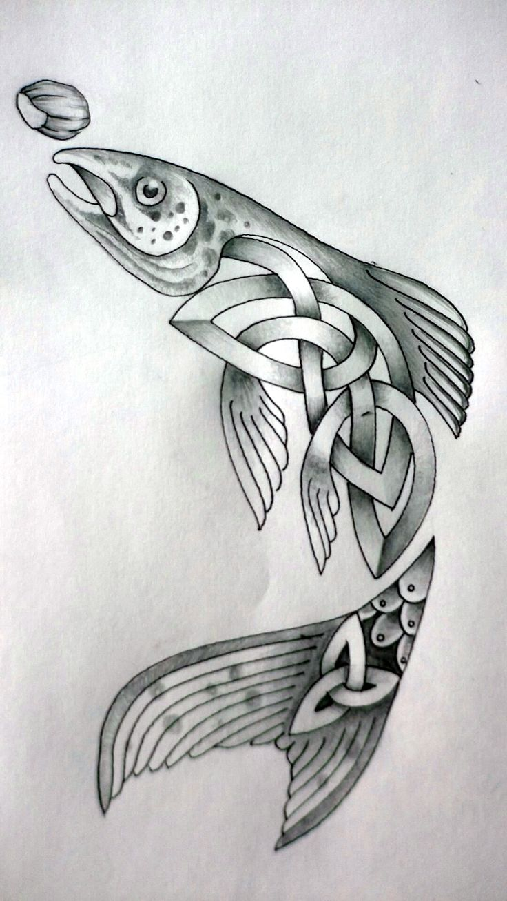 This Celtic Fish by Tattoo-Design.deviantart.com on @deviantART would make a great leathercraft pattern! Need Leather to turn this into a work of art? Contact Standing Bear's Trading Post 7624 Tampa Avenue, Reseda, CA. 91335 818-342-9120