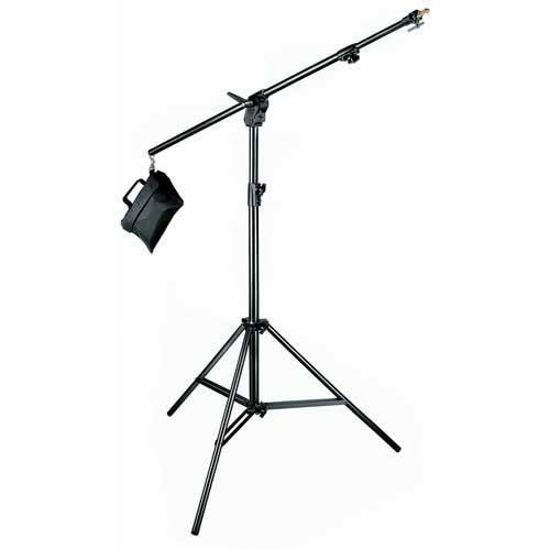 Manfrotto 420B 3- Section Combi- Boom Stand with Sand Bag - Replaces 3397,3397B (Black) by Manfrotto. $161.95. A boom stand is a great addition to any studio set up. The boom allows you to place a light directly over your subject matter for great separation and light control. An included sandbag gives a perfect counterbalance for safety and smooth movement. Perfect for a hair light or product photography, you will wonder what you ever did without one. Attachment (top): ty...