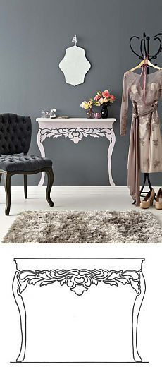Декор: делаем из простой полки столик во французском стиле. МК.