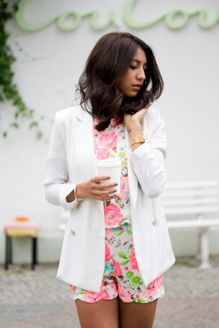 Suited in Florals NYS wearing our cute neon floral! #fashion