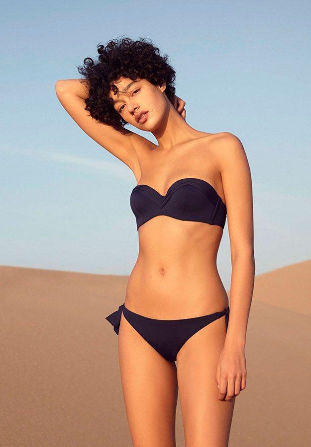 Pleated bandeau bikini - OYSHO.com