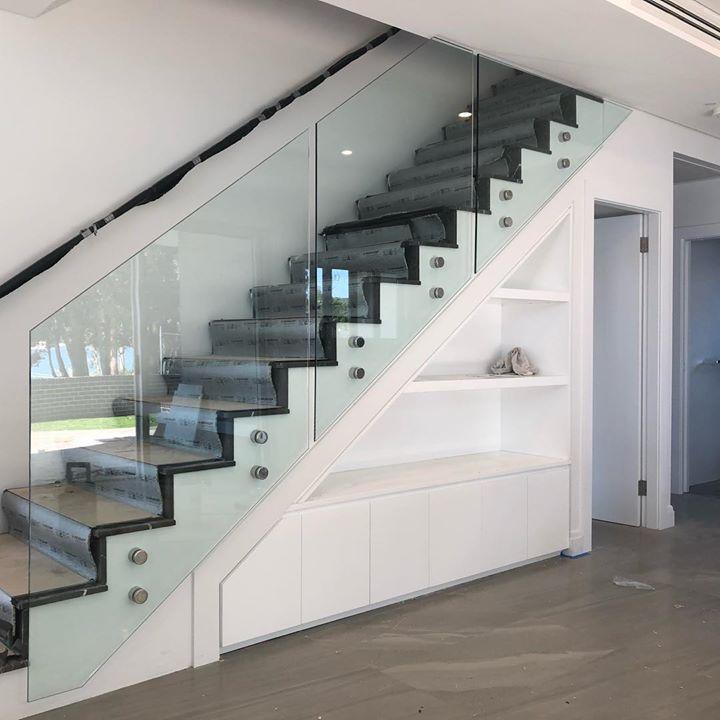 Stair panels.#framelessglass #staircase #customglass
