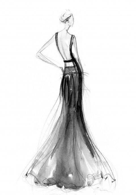 watercolor fashion sketch