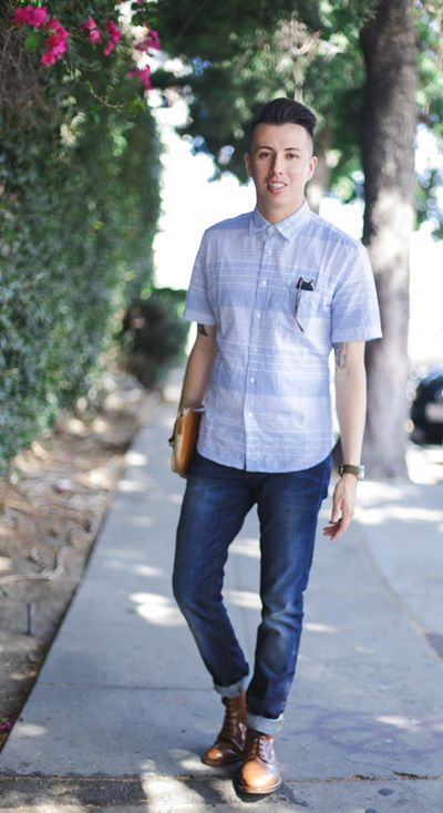 Keep it cool in summer blues. LA Menswear Blogger Blake Scott stays crisp  in his · Korean Fashion MenGuy ...
