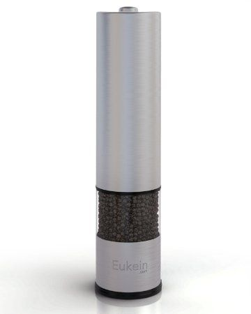 Amazon.com: Eukein Automatic Electric Salt or Pepper Grinder Mill, Battery Powered with Light At Bottom.: Kitchen & Dining