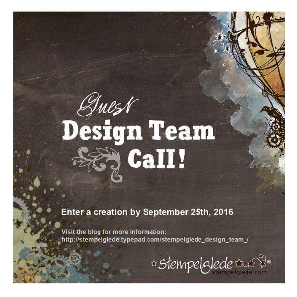 Stempelglede Guest DT Call! Ends September 25th 2016