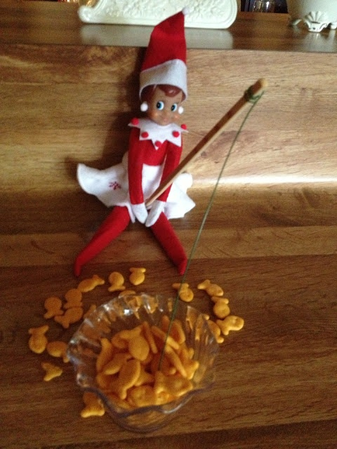 Elf on the shelf fishing can 39 t believe i just pinned a for Elf on the shelf fishing