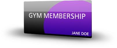 *Gym membership card*