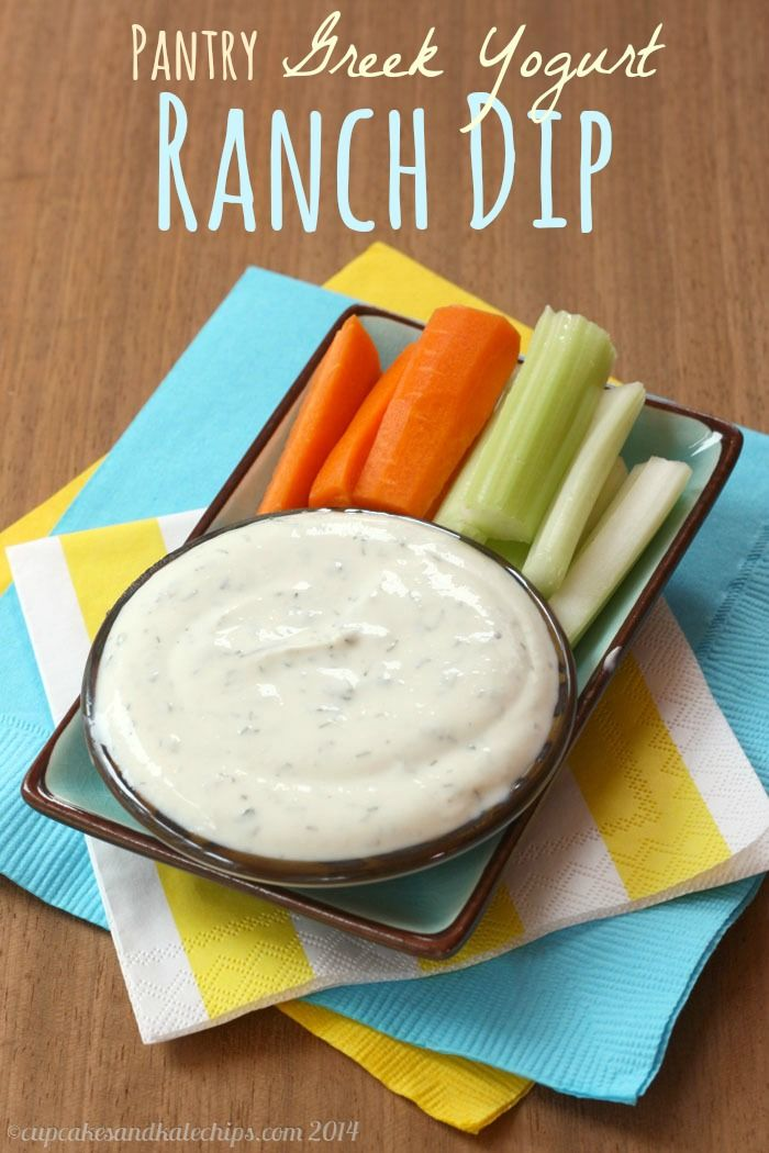 Pantry Greek Yogurt Ranch Dip - an easy, healthy version of a favorite | cupcakesandkalechips.com | #appetizer #snack #glutenfree
