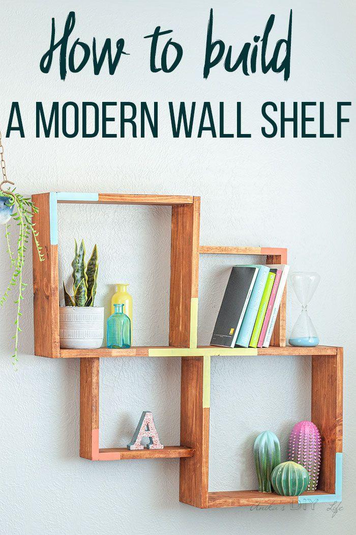 How To Build A Simple Wall Shelf Modern Wall Shelf Diy Display