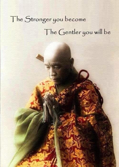 The stronger you become the gentler you will be. quote. strength…