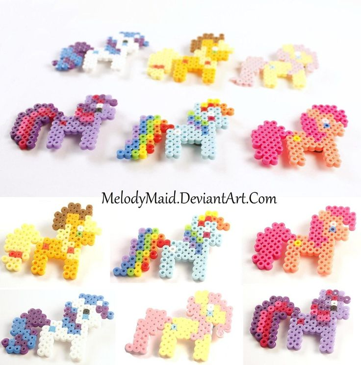 My Little Pony Perlers by *MelodyMaid on deviantART
