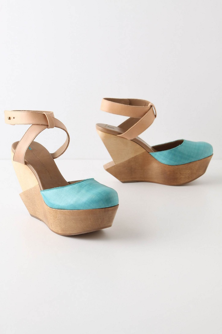 Pulled Tide Wedges - Anthropologie.comTide Wedges, Fashion, Anthropology, Style, Colors, Summer Shoes, Heels, Pulled Tide, Robin Eggs Blue