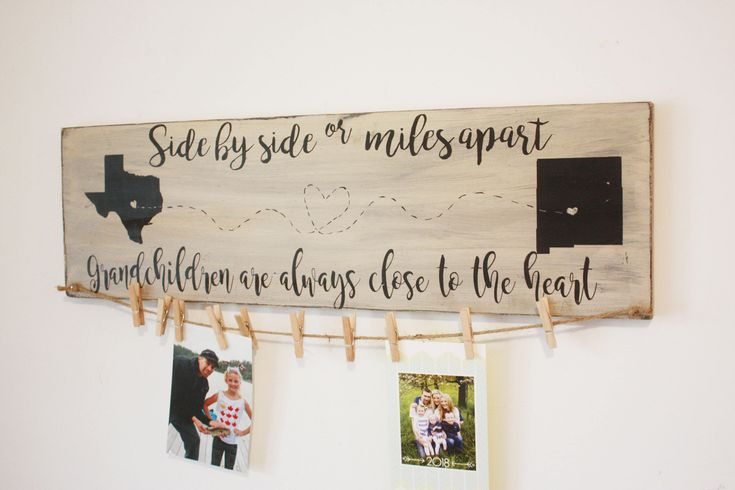 Excited to share the latest addition to my #etsy shop: Grandparents gift, brag board photo display, miles apart always close to the heart, personalized ,Wooden Sign, Hand Painted, ANY STATES http://etsy.me/2ogbBgz