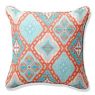 Frontgate Outdoor Square Pillow With Piping 17x17   $69