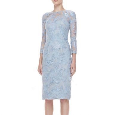 Luxury Embroidery Style Body Shape Midi Fashion Dress