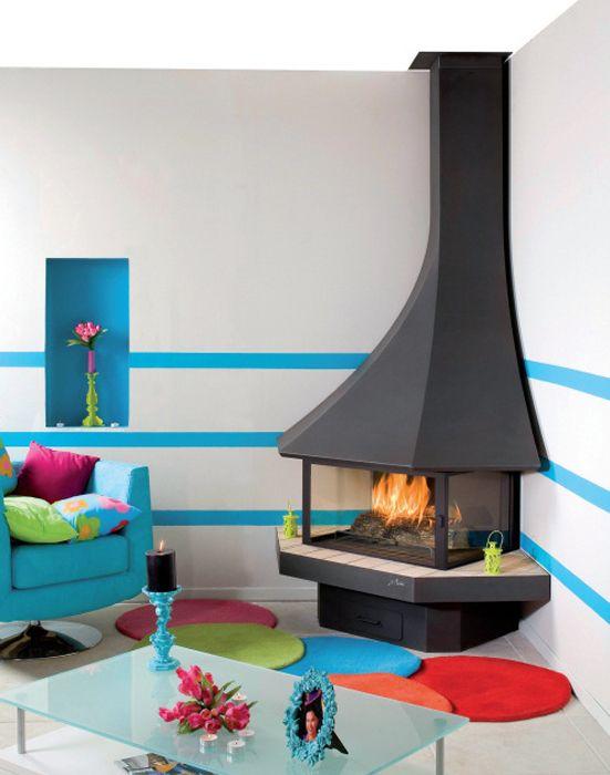 10 ambientes con chimeneas modernas