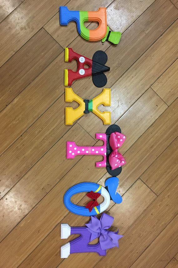 Mickey Mouse letters by LeftiesLovelies on Etsy