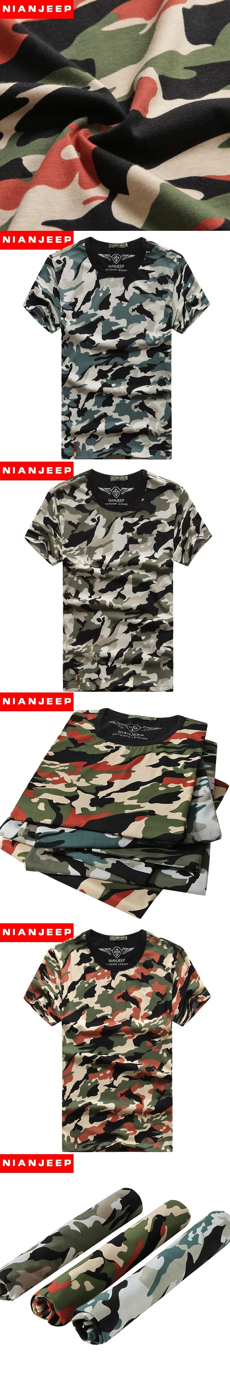 Men Shirt New 2017 Brand Nianjeep Camouflage Breathe Freely and Absorb Sweat Casual Shirts  Army Military camisa masculina