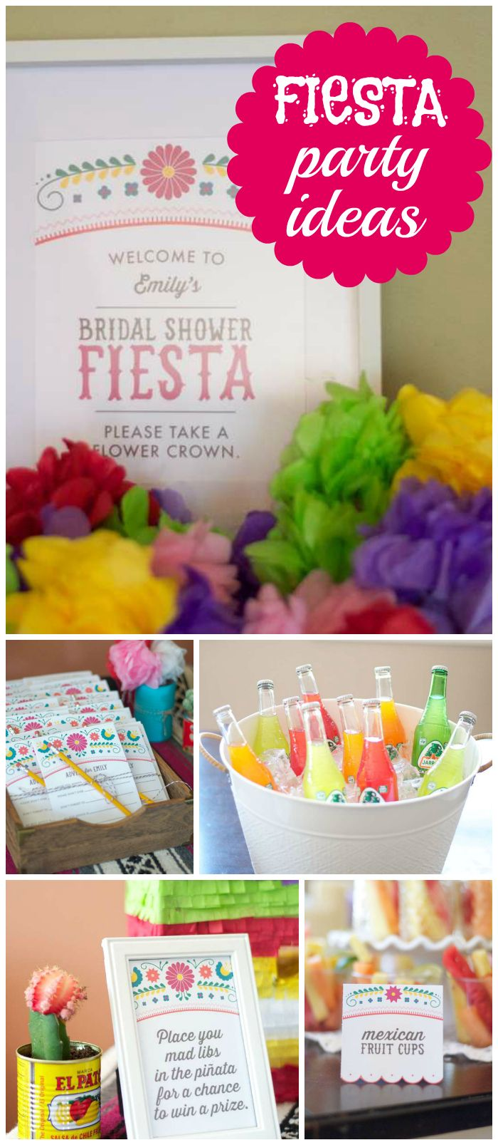 Such a gorgeous bridal shower with a Mexican fiesta theme! See more party ideas at CatchMyParty.com!