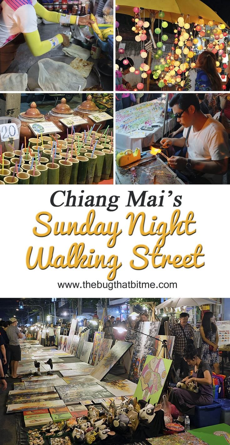 Chiang Mai's Sunday Night Walking Street, Thailand | The Bug That Bit Me