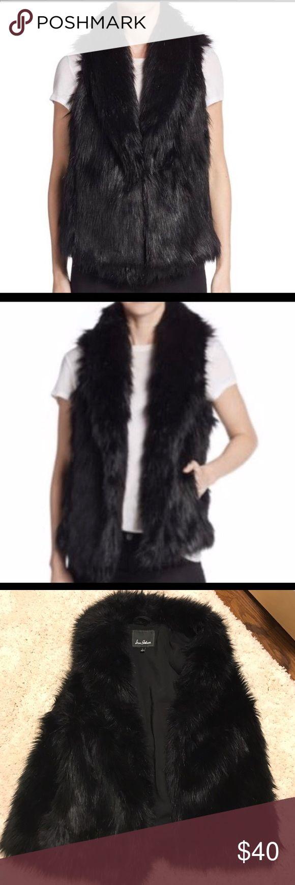 Sam Edelman faux fur vest Great condition.with pockets. Sam Edelman Jackets & Coats Vests
