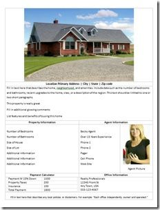 Create a Free Real Estate Flyer | Free Downloadables For ...