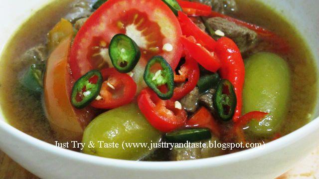 Just Try & Taste: Asem-Asem Segar Daging Sapi