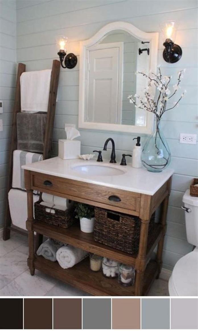 40 Best Color Schemes Bathroom Decorating Ideas On A Budget 2019 Viralinspirations Farmhouse Bathroom Decor Joanna Gaines House Bathrooms Remodel