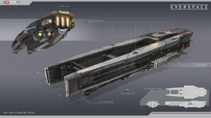 Terran Capital Ship, Tobias Frank on ArtStation at https://www.artstation.com/artwork/eVG8G