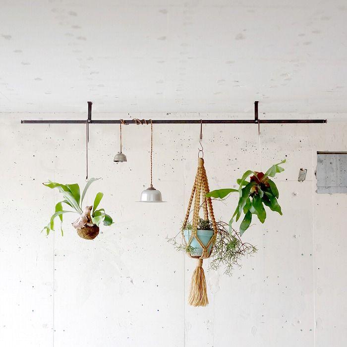 Bowler Pentant Light アルミ オリジナル家具 金物の上手工作所オンラインショップ 植物の装飾 壁掛け グリーン 観葉植物 吊るす
