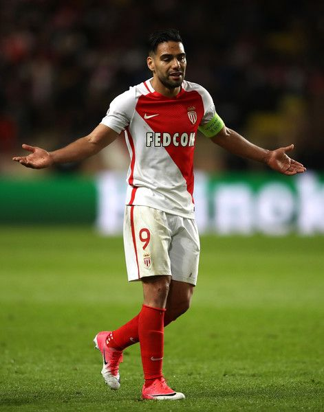 A dejected Radamel Falcao Garcia of AS Monaco looks on during the UEFA Champions League Semi Final first leg match between AS Monaco v Juventus at Stade Louis II on May 3, 2017 in Monaco, Monaco.
