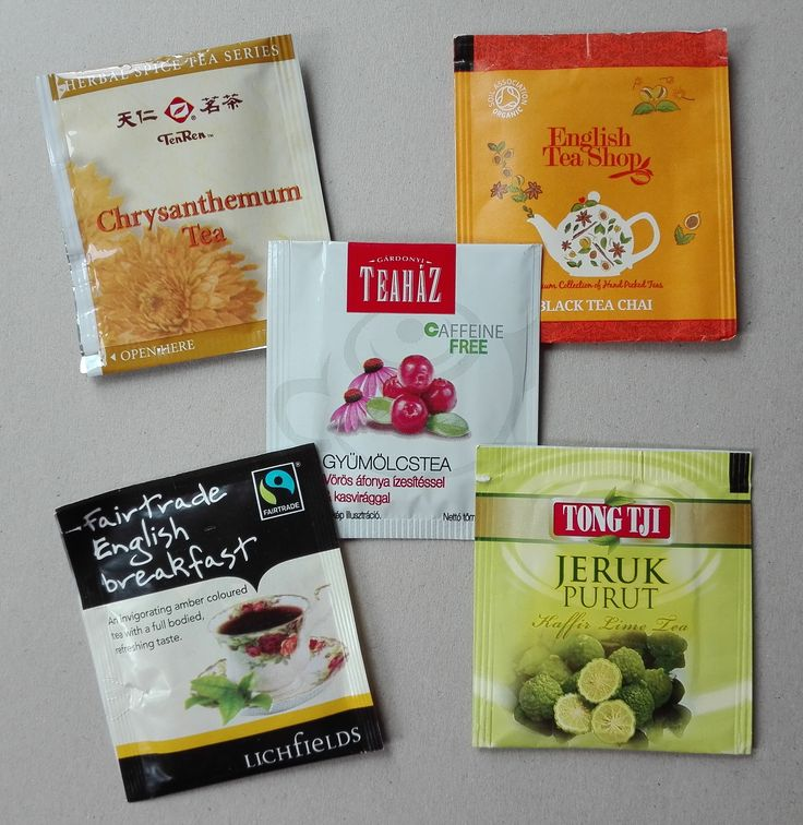Teabags received from the Netherlands (Blind Teabags Swap #3)