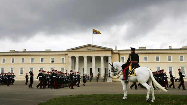 A parade outside the building at Sandhurst. Sandhurst's sheikhs: Why do so many Gulf royals receive military training in the UK? Generations of foreign royals - particularly from the Middle East - have learned to be military leaders at the UK's Sandhurst officer training academy. Since 1812, the Royal Military Academy Sandhurst has been where the British Army trains its officers.