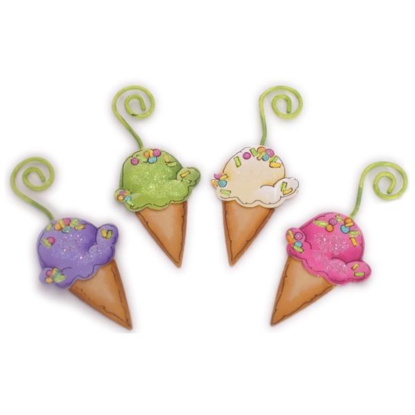 Ice Cream Cone Ornament, Set of 4 $10