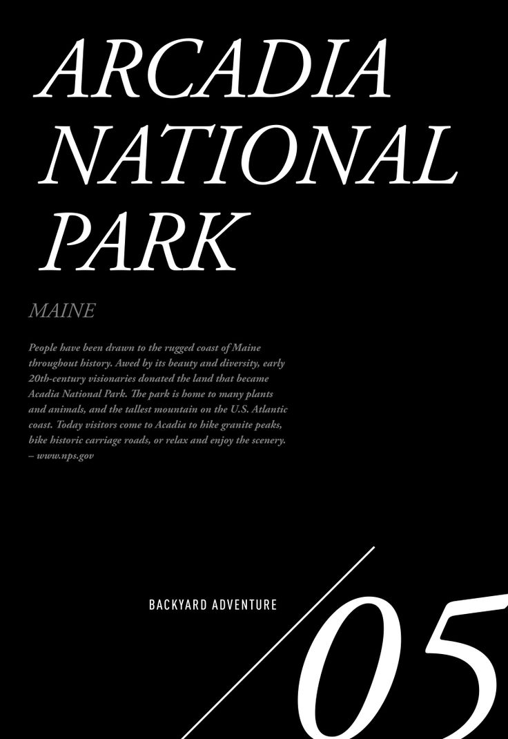 Backyard Adventure Destination 05. Arcadia National Park / Jennifer Chong