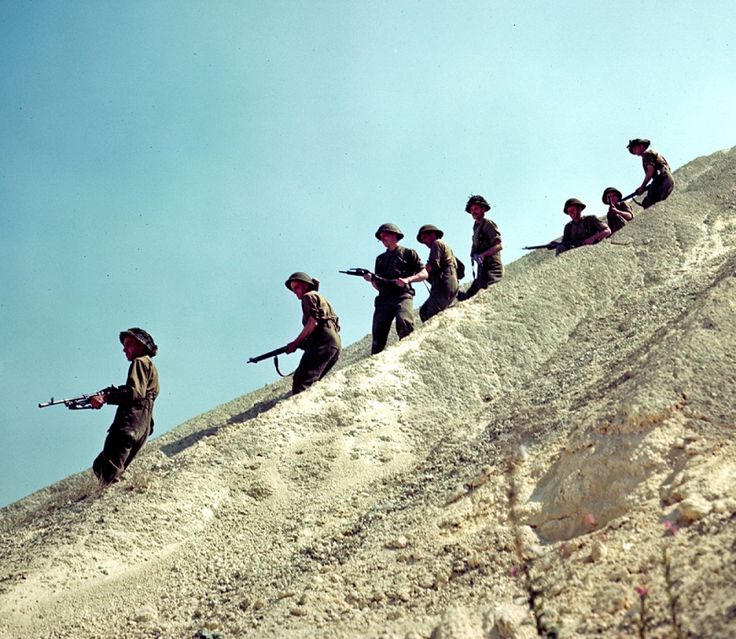 Normandy in Colour - Canadian soldiers in Normandy, France.