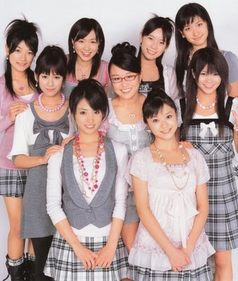 Idoling!!! is an idol group created by Fuji TV back in 2006. The picture shows the original nine first generation members of Idoling!!! (circa 2007). Since then, several new members have joined while only three original members remain in 2012.