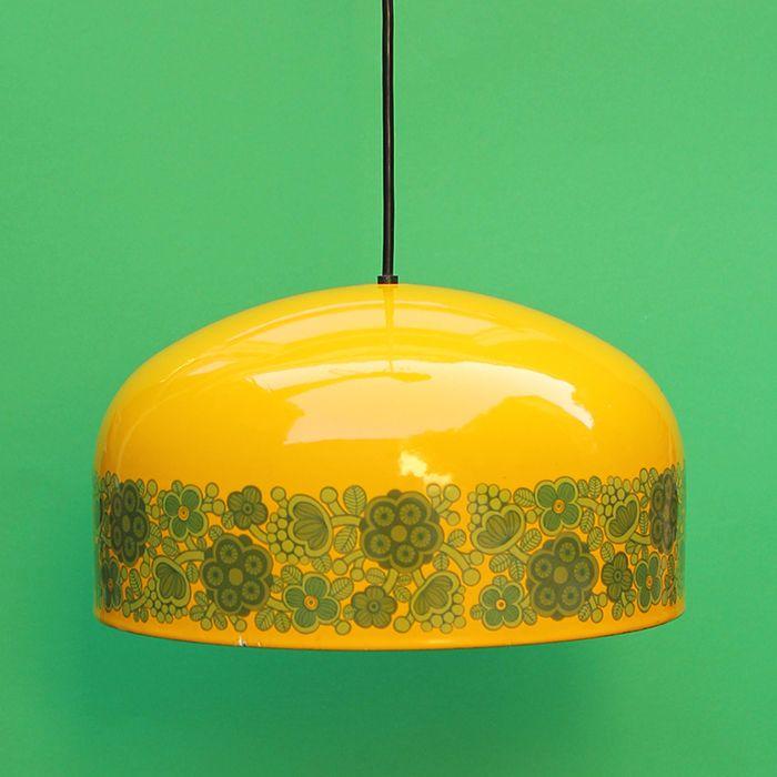 Kaj Franck - Designlamp 'Fog & Mørup', emaille met bloemenmotief