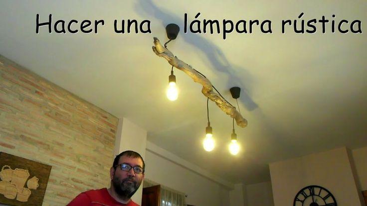 Como Hacer Una Lámpara Rústica Con Una Raiz