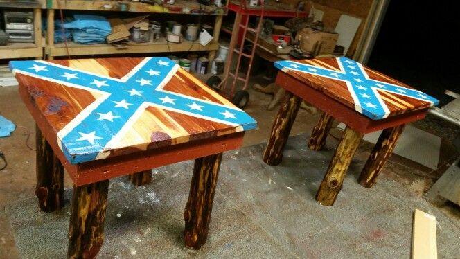 Rustic rebel end table's  $75 for the pair www.facebook .com/surenuffrustic