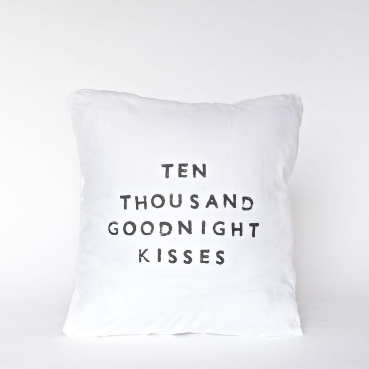 Casa&Co. Design: Goodnight Kisses Linen Quote Pillow #MarthaStewartAmericanMade
