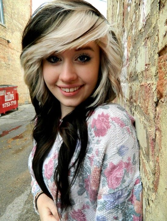 Black Hair With Blonde Highlights For 2014 Hairstyles - Pretty Designs