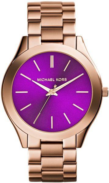 Michael Korsm Womens Slim Runway Rose Goldtone Stainless Steel Bracelet Watch 42mm
