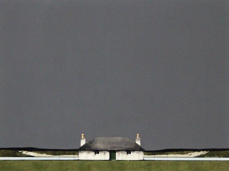 Ron Lawson, South Uist Blackhouse, Watercolour & Gouache | Scottish Contemporary Art