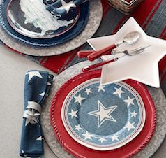 Variety of 4th of July plates