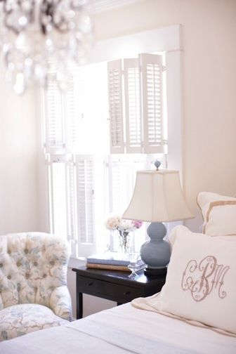 feminine bedroom- pretty monograms