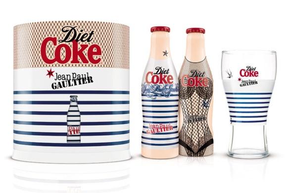 Jean Paul Gautier e Diet Coke finalmente juntos. As garrafas estão lindas!!!!