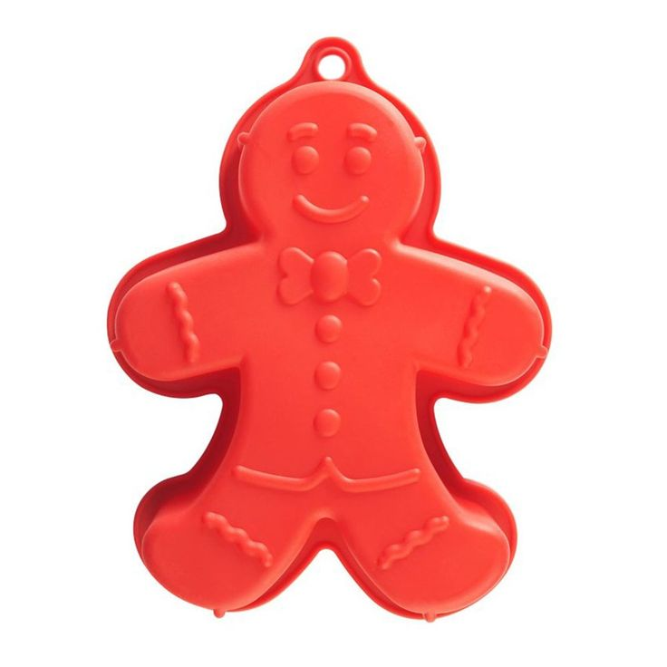 The gingerbread man cake mould is part of the home baking range. It can be used to make specially designed cakes sure to impress family and friends. As it is made from silicone it is very easy to use, functional and provides creative flair. Length: 34cm Width: 27cm Depth: 7cm Dishwasher Safe Conventional Oven Safe